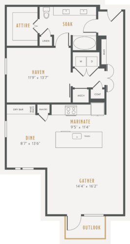 Alexan Lower Greenville One Bedroom Floor Plans A21