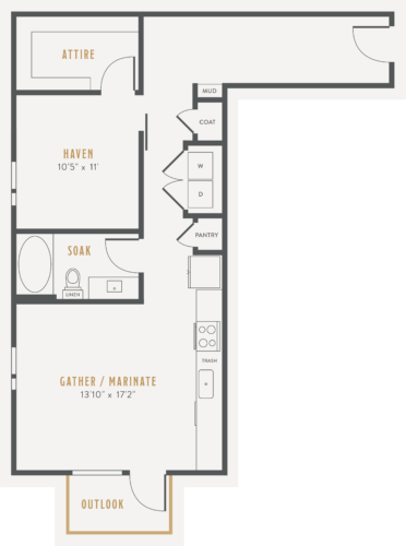 Alexan Lower Greenville One Bedroom Floor Plans A8