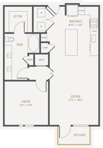 Alexan Lower Greenville One Bedroom Floor Plans A9