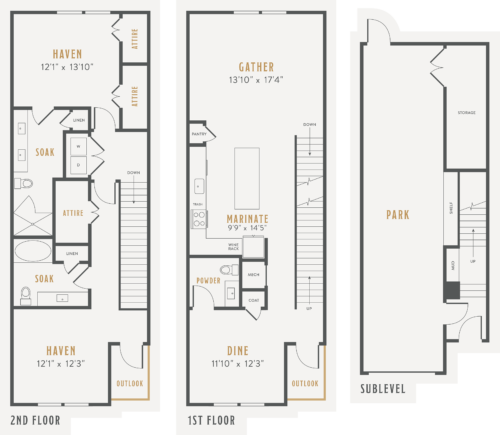 Alexan Lower Greenville Townhomes Floor Plans TH5