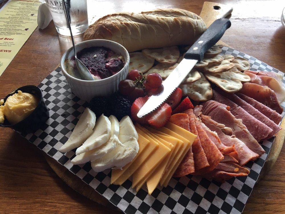 Cheese board from local establishment