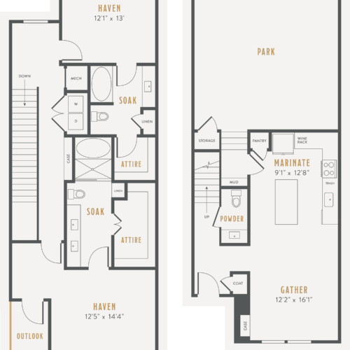 two-bedroom townhouse apartments
