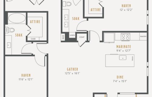 Dallas two-bedroom apartments