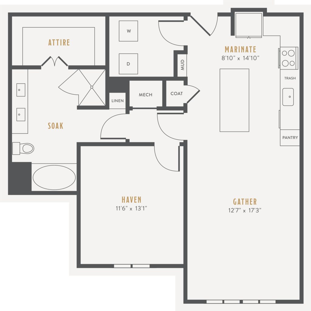 Rise Above and Beyond - A15: one bed/one bath