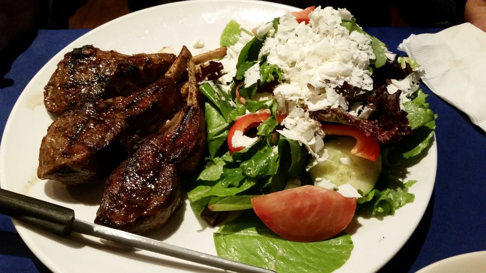 rack of lamb with sub side salad - Takeout From Sevan G & G Restaurant - pic by Phillip B. on Yelp