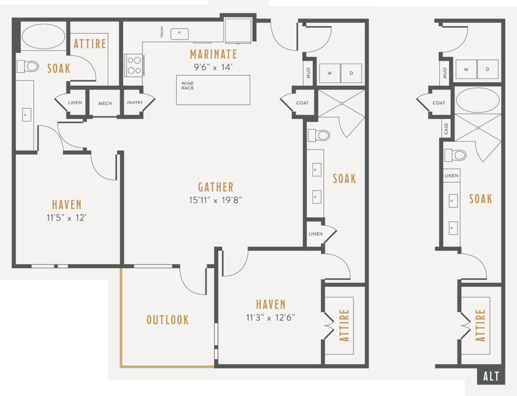 two bed/two bath at Alexan Lower Greenville - Your New Home is Waiting