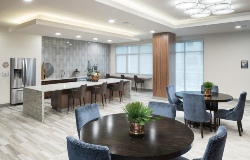 5th-floor Clubroom at Alexan Lower Greenville - Easy Going Weekends are Back